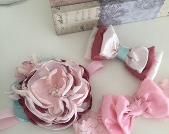 Charm cozette couture headband or clip, made to match, m2m, fall 2016, matilda jane, Persnickety, baby headband, flower crown, flower bow