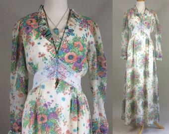 70s Boho Maxi Dress / Vintage 1970s Dress / Vintage 70s Dress / Vintage 1970s Boho Dress / Vintage 70s Boho Dress / Vintage 70s Maxi Dress