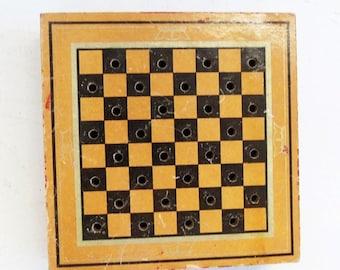 Vintage Tiny Whitman Publishing Checker Chest Game, Checkers Game