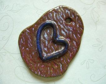 My Blue Heart Ceramic Pendant