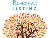 Reserved  listing for Stephanie & Devendra