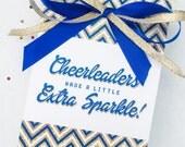 Team Spirit Collection. Cheerleader Favor Card. DIY Printable Design. Pinkadot Shop