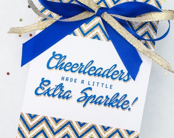 Team Spirit Collection. Cheerleader Favor Card. DIY Printable Design. Pinkadot Shop