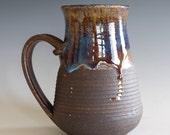 Pottery Mug, 16 oz,  unique coffee mug, handmade ceramic cup, handthrown mug, stoneware mug, wheel thrown pottery mug, ceramics