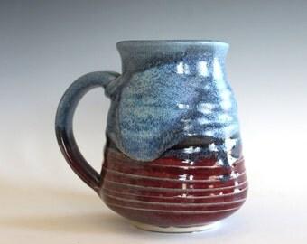 Pottery Coffee Mug, 16 oz, handmade ceramic cup, ceramic stoneware mug, coffee cup