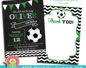 Soccer Birthday Invitation / Soccer Party Invite / Soccer Invitation / Soccer Party / Birthday Invitation