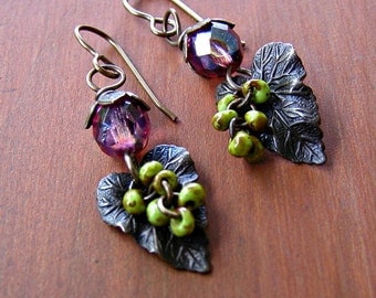 Blossoms and Leaves Earrings