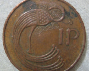 1994 Ireland, Bronze Coin, 1 Pingin