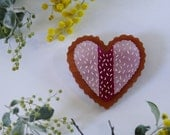 Nice Vovo Heart Wearable Art Brooch by Winnifreds Daughter