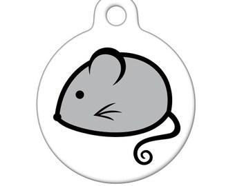 Pet ID Tag - Mouse Pet Tag, Dog Tag, Cat Tag, Luggage Tag, Child ID Tag