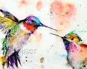 HUMMINGBIRD Watercolor Greeting Cards by Dean Crouser