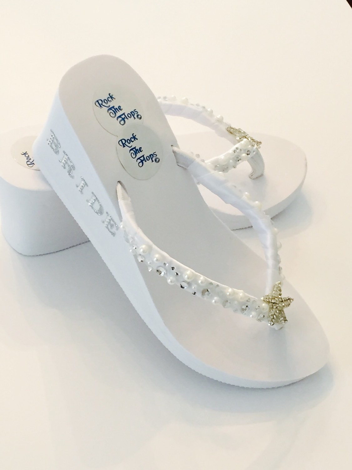 bridal wedges white wedding flip flops bridal