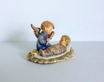 Vintage W Goebel West Germany Hummel Figurine Lullaby Candleholder TMK-3