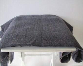 Vintage wool blanket/ dark gray/ throw/Amana colonies