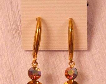 Earrings, Jewelry, New, High Quality, Glass Gems, Steampunk, Banana Bob Findings, Victorian