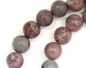 MOVING SALE Crazy Horse Stone (Mostly Mauve) Beads - 8mm Round - Full Strand