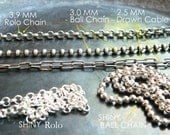 MEN'S CHAINS - Recycled  Sterling Silver -  Thick Necklaces For Men , (For Women too). Choose Your Style,  Length and Finish
