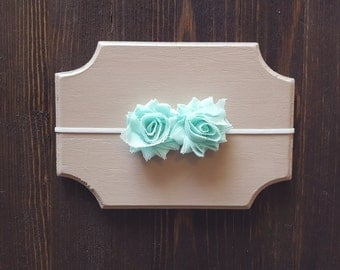 Girls Mint Headband, Newborn Headband, Baby Headband, Mint Headband, Newborn Headband, Mint Flower Headband, Mint Baby Headband
