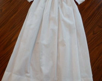 "Beautiful Antique Victorian Christening Gown Lace and Tucks, 32"" Length"