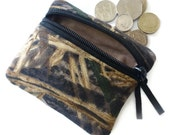 Camouflage  coin purse, zipped card pouch mossy oak camo