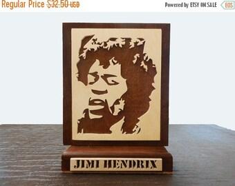 25% store sale Jimi Hendrix Portrait Desk Plaque  Hand Cut Scroll Saw