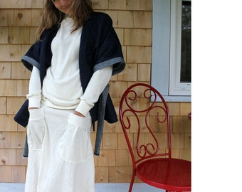 Organic Hemp Denim Kimono style Wrap jacket