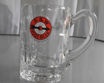Frosty Mug of A&W Ice Cold Root Beer, Vintage Mug, Serving, Beverage, Hamburger Stand, Drive In Restaurant, American Icon