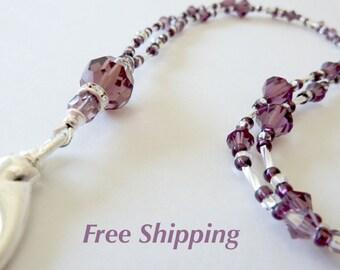Crystal id necklace,crystal bead lanyard,crystal id lanyard,bling lanyard,lanyard id necklace,breakaway lanyard, badge holder,Teacher gift
