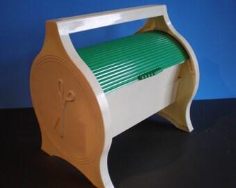 Vintage 1980's Plastic Portable Plastic Sewing Case