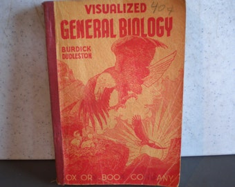 Vintage 1940's Book - Visualized General Biology