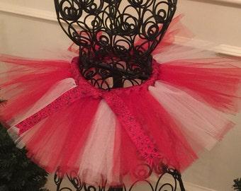Red, White and Heart Tutu-Valentine Tutu