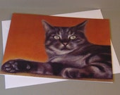 Hamish the Cat art card b...