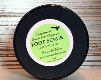 Sweet Feet Peppermint Organic Foot Scrub, Peppermint Foot Polish