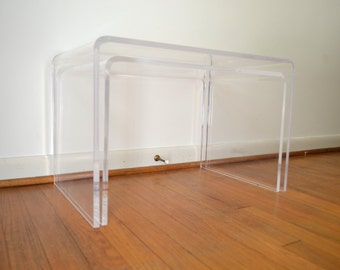 Mod Lucite Nesting Tables