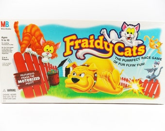 Vintage Electronic Fraidy Cats Board Game Complete Milton Bradley MB 1994 Rare