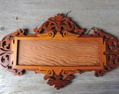 Vintage Photo Frame Handcrafted Scroll Work 1940's Home Decor Wooden made with Scroll Saw Light Color Pine Art Frame Wooden Home Accent