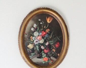 SHOP SALE Vintage Florentine Floral Picture
