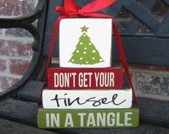 """Christmas """"MINI"""" stacker Don't get your tinsel in a tangle"""