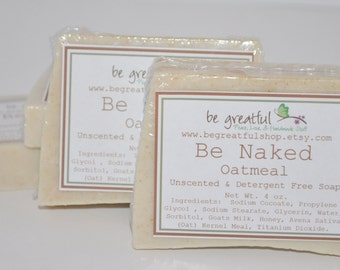 Be Naked Unscented Oatmeal Glycerin Soap