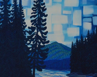 """Athabaska River II, 36""""X60"""", Original Painting, Canadian Artist, Ready to Hang, Gallery Canvas"""