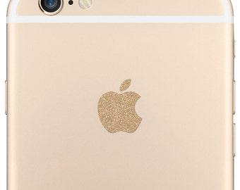 Sparkling Gold iPhone 7 Plus and 6 Plus Logo Decal