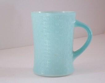 Baby Blue Glasbake Basketweave Coffee Mug,  Vintage  Milk Glass Mug,  Basket Weave Coffee Cup, Vintage Mckee Glasbake Glassbake Mug