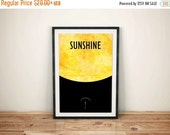CIVIC DUTY SALE A Mote in the Sun // Sunshine Minimalist Movie Poster // Vintage Inspired Cult Movie Print