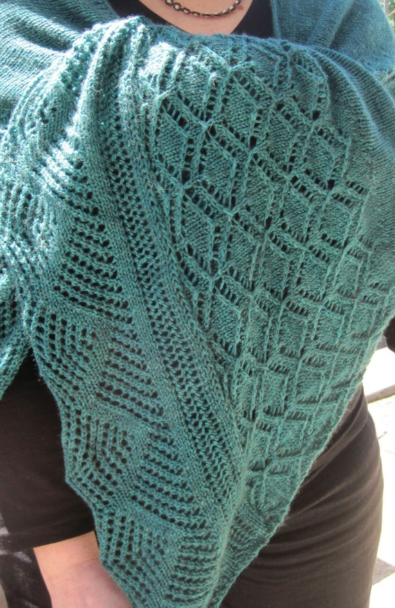 Knitted Pattern For Wingspan Scarf : Knit Shawl Pattern: The Fetlar Long Wingspan Shawl Knitting Pattern from Wear...