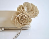 Champagne - Bridal Clutch - Bridesmaid Clutch - Wedding clutch - Large clutch