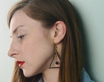 Large Geo Pendulum Earrings