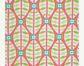 SALE - Buttonwood in Coral  - LA DEE Da  (pwEm038) - Erin McMorris - Free Spirit Fabric  - By the Yard