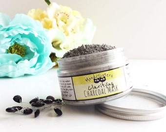 Charcoal Clay Face Mask - Activated Charcoal Mask Organic Skincare - Charcoal Face Mask