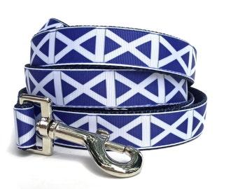 Navy Dog Leash / Nautical Dog Leash / Geometric Dog Leash / Blue Dog Leash / Navy White Dog Leash