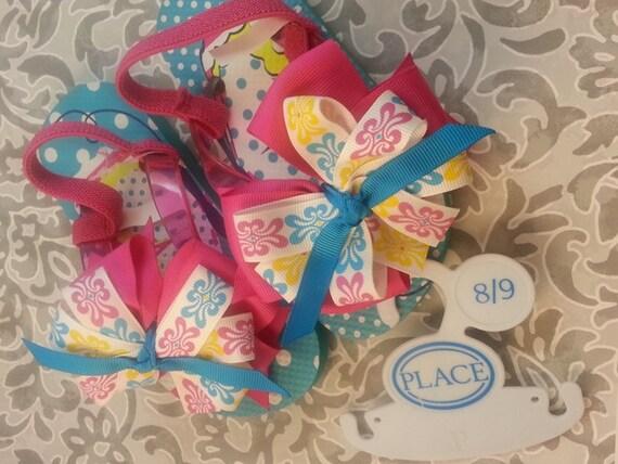 boutique bow custom boutique fancy flip flops baby shoes